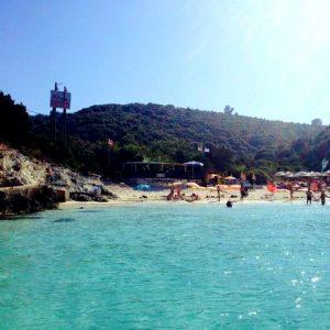 vrika beach at paxos island antipaxos
